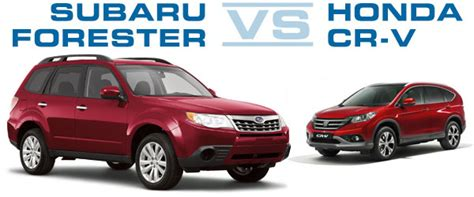 Crv Vs Subaru Forester by Subaru Forester Vs Honda Crv Comparison Review