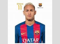 Postal FC Barcelona A4 20162017 Neymar Jr