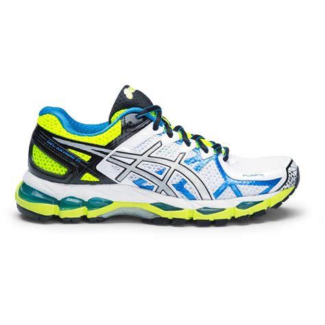 asics gel kayano 21 size 7us only womens running shoes white lightning flash yellow online