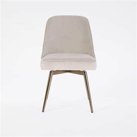 mid century swivel office chair velvet west elm