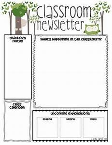 classroom newsletter classroom and newsletter templates With free monthly newsletter templates for teachers