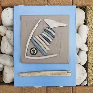 Peinture Effet Bois Flotté : tableau en bois flott et peinture le poisson bois ~ Dailycaller-alerts.com Idées de Décoration