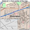 Shreveport Louisiana Street Map 2270000