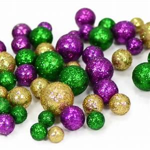 Glitter Mardi Gras Confetti Balls (Bag) [MZ2006MG