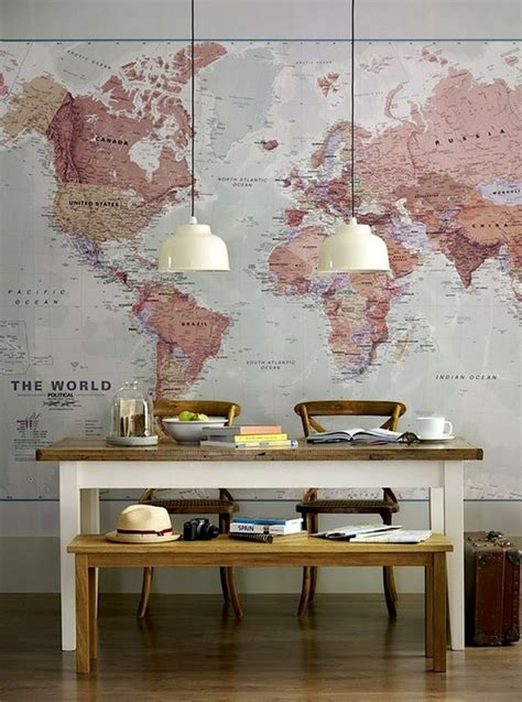 Decorating With Maps Map Wall Decor Travel Art Collage