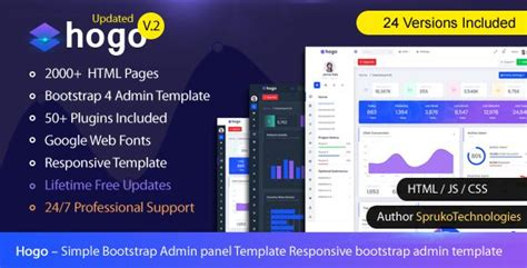 hogo clean multipurpose responsive bootstrap simple