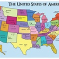 Map Of United States With State Names And Capitals ...