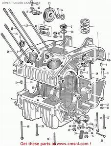 Honda Ca77 Dream Touring 305 Usa Upper - Under Crankcase