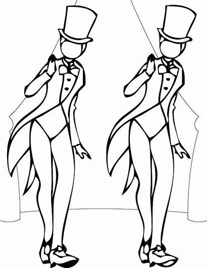 Coloring Dance Pages Tap Jazz Dancer Drawing