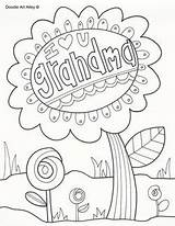 Coloring Pages Grandparents Colouring Printable sketch template