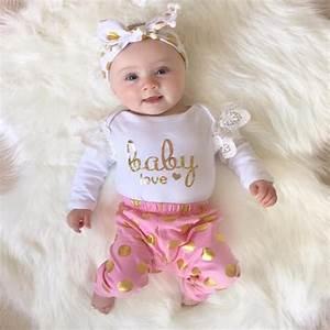 New 2018 Autumn Baby Girl Clothing Set Newborn Toddler ...