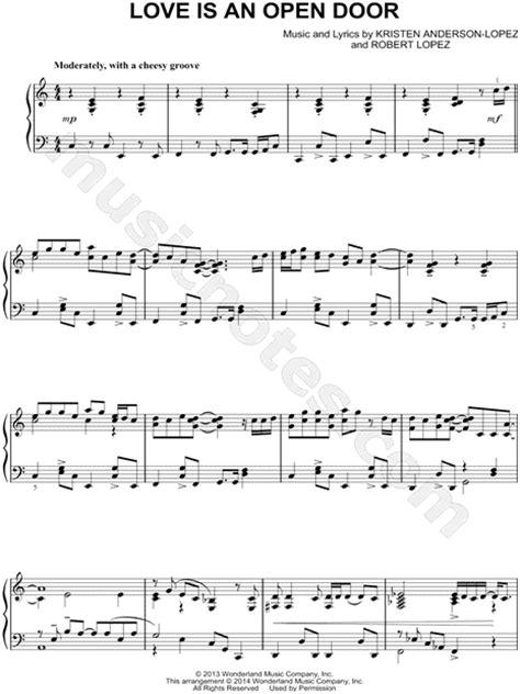 open door notes quot is an open door quot from frozen sheet piano