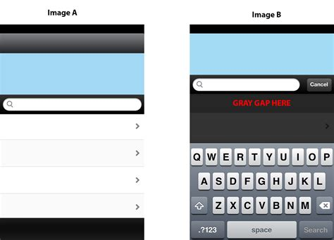 search by image iphone iphone table view not getting quot pulled up quot when search