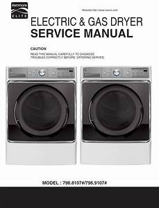 Kenmore Elite 81072 91072 Dryer Service Manual And