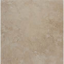 style selections 18 x 18 almond glazed porcelain floor tile