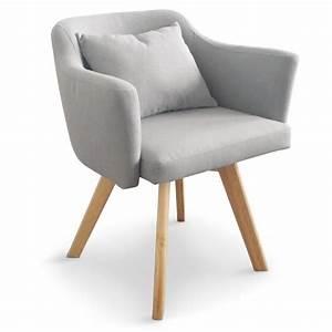 Fauteuil Scandinave Tissu : chaise fauteuil scandinave lago tissu gris coin du design ~ Teatrodelosmanantiales.com Idées de Décoration