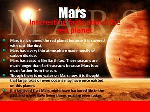 Solar System Planets Mars Information - Pics about space