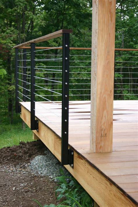 wire banister railing for loading dock patio b office building