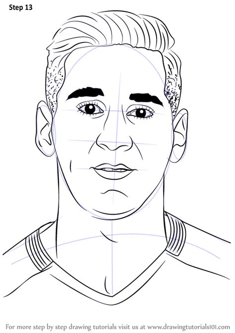 Lionel Messi Drawing Easy Cartoon