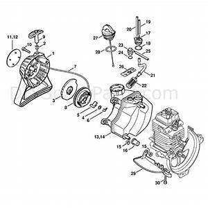 Stihl Ht 130 Z Pole Pruner  Ht130z  Parts Diagram  Rewind