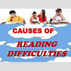Reading Difficulties