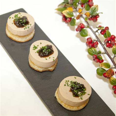 duck foie gras pate on brioche with caramelised shallot