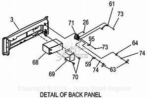 Generac 0057470  Xg8000e  Parts Diagram For Back Panel