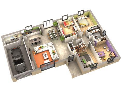 logiciel gratuit cuisine 3d plan maison contemporaine modèle amande tuiles rouges