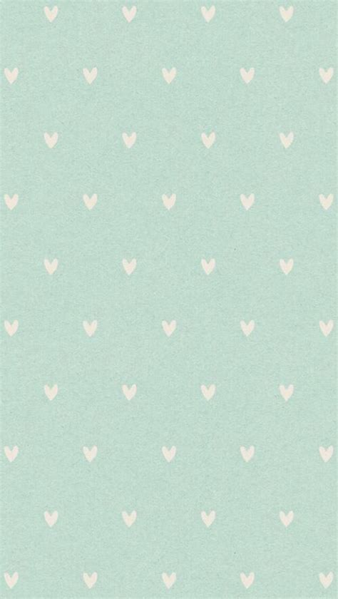 iPhone Mint Heart Wallpaper