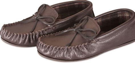 Nordvek Womens Real Leather Moccasin Slippers Hard Rubber