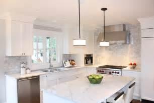 white kitchen with backsplash for the home on herringbone backsplash