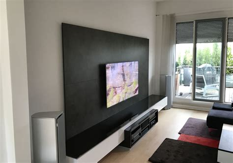 tv an wand tv wand mit medien low board audio team home entertainment