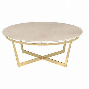 alexys cream marble round gold coffee table kathy kuo home With cream marble coffee table