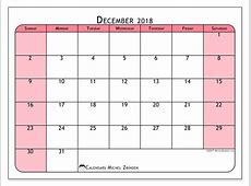Calendars December 2018 SS Michel Zbinden en