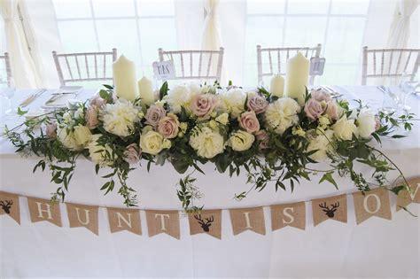 long   top table arrangement flowers