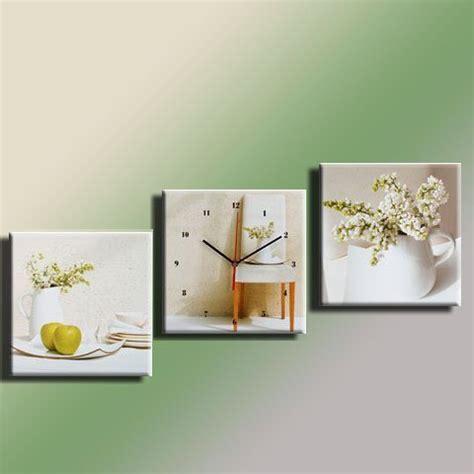 cadres tableau cadre pendule tryptique lilas blanc 30 x30 cm