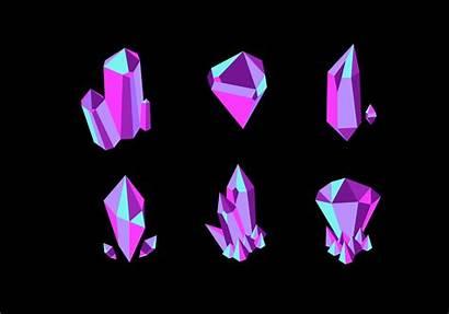 Crystal Vector Quartz Vecteezy Clipart Vectors Graphics