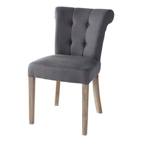 chaise capitonnée grise chaise capitonnée en taupe grisé boudoir maisons du