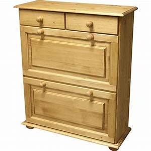 Meuble à Tiroir : meuble a chaussure 2 portes 2 tiroirs ~ Melissatoandfro.com Idées de Décoration