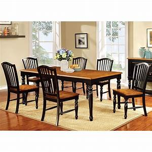 Shop, Furniture, Of, America, Levole, Two-tone, 7-piece, Country, Style, Dining, Set
