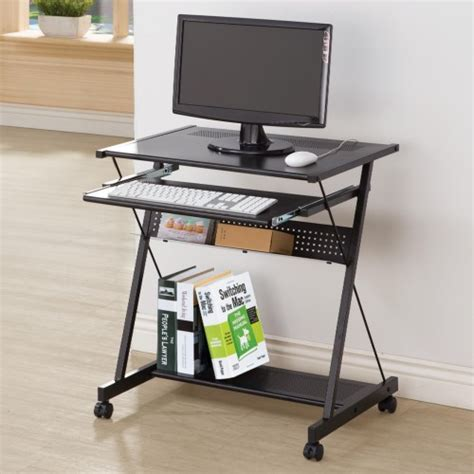 computer desk with casters computer desk with keyboard drawer casters silvermoon