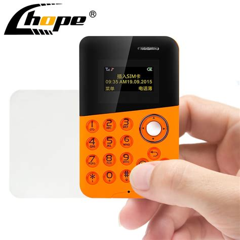 They are so small that they can't even pick up a paperclip. New Mini Card Phone AIEK M8 Color Screen TF Card Credit Card Phone Quad Band Low Radiation Kids ...