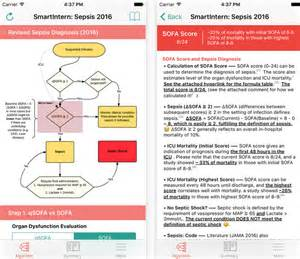 smartintern sepsis app review sepsis management medical
