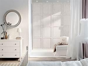 Kleiderschrank Weiß Gebeizt : schlafzimmer eingerichtet u a mit pax kleiderschrank mit einrichtung in wei und hemnes t ren ~ Watch28wear.com Haus und Dekorationen