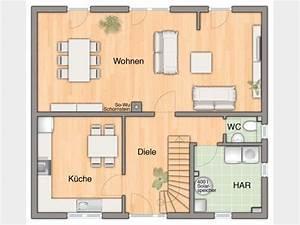 Gäste Wc Grundriss : grundriss eg flair 134 einfamilienhaus von town country haus lizenzgeber gmbh abgetrennte ~ Orissabook.com Haus und Dekorationen