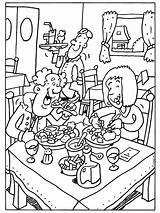 Restaurant Kleurplaat Coloring Kleurplaten Restaurants Colouring Pencil Ober Thema Zoeken Google Printable Template Eten Smakelijk Sheets Pixels Beroepen Koken Bakken sketch template
