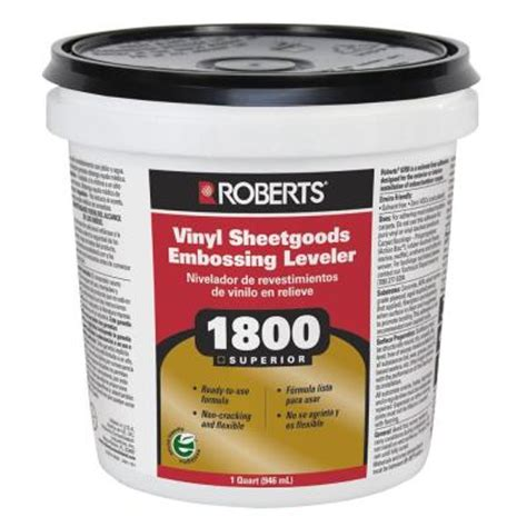 roberts 1 qt vinyl sheetgoods embossing leveler 1800 0 2