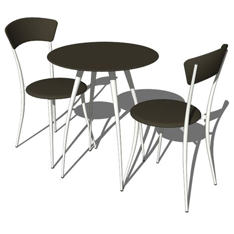 adesso cafe table and chairs 3d model formfonts 3d