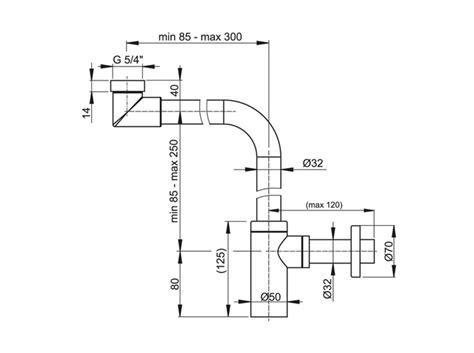 Designer Siphon A403 Abfluss Ablauf Flaschen