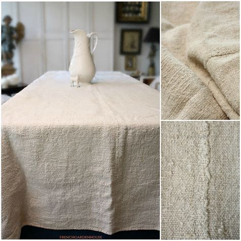 19th Century Organic Hand Woven French Country Linen